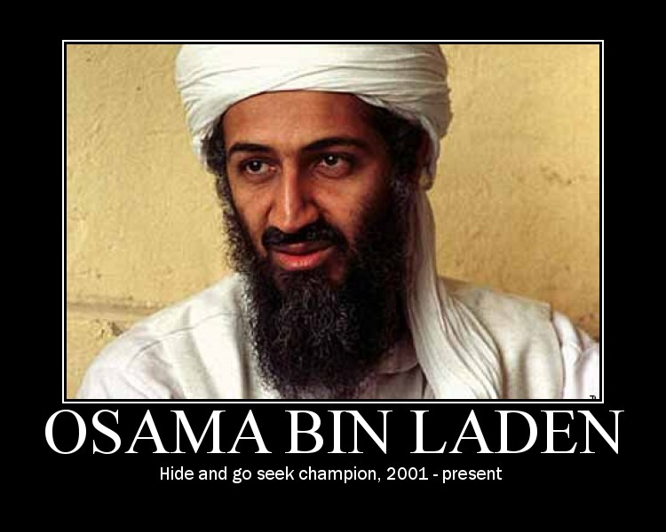 osama bin laden jesus. Osama bin Laden could not